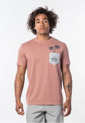 Rip Curl pink In Da Pocket Short Sleeve Tee 30EBDAA5AFB39EGS_1