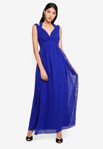 Little Mistress blue Cobalt Trim Maxi Dress 51442AAA10362CGS_1