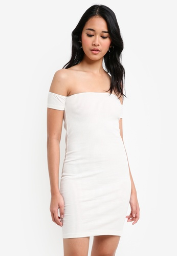 TOPSHOP white Bandeau Bodycon Dress 236F3AAF442D17GS_1
