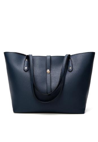 Lara blue 2Pcs Tote Bag Set With Purse ED6B7ACA1EEBD7GS_1