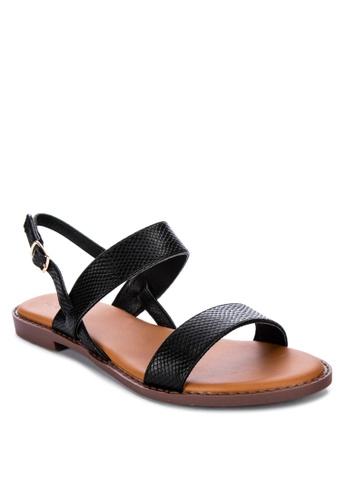 S&H black Fynn Sandals 401AESHD147166GS_1