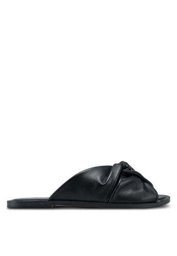 ALDO black Sessame Flat Sandals 94681SH1492399GS_1