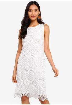 48cb2c803917 Wallis white Ivory Lace Shift Dress C395BAA3A5340FGS_1