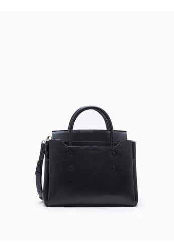 Calvin Klein black Folded Small Carryall Tote CFE2DACD418BCCGS_1