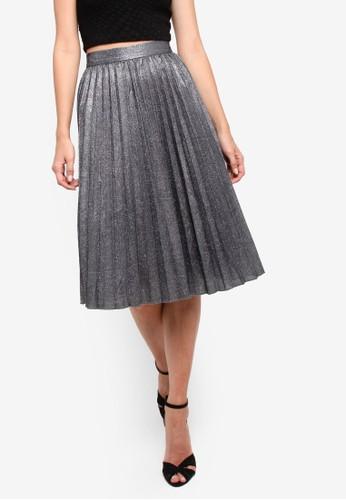 Philippe 金屬感百褶裙, 服zalora時尚購物網的koumi koumi飾, 及膝裙
