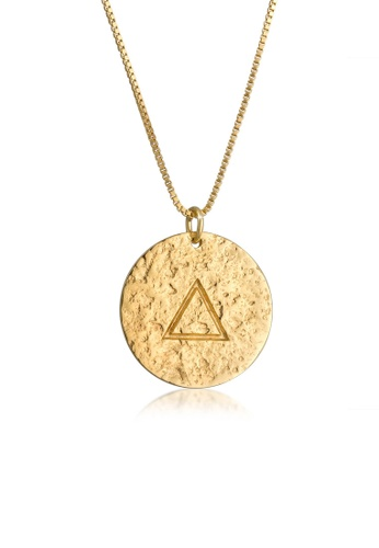 ELLI GERMANY gold Elli Germany Necklace Platelet Element Fire Symbol Vintage Look in 925 Sterling Silver Gold Plated 7D01DAC4D81DF9GS_1