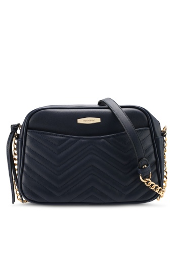 Perllini&Mel navy Faux Leather Sling Bag PE444AC0SIZZMY_1