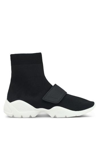 Mango black Sole Sock Sneakers 5B37FSHD09508BGS_1