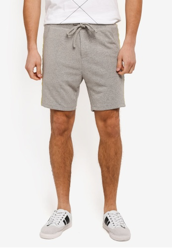 "ZALORA grey 6"" Contrast Panel Jersey Knit Shorts A4CF2AA0707DA8GS_1"