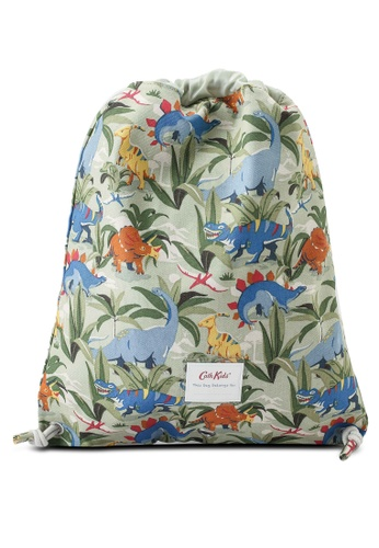 Cath Kidston green Dinosaur Jungle Kids Drawstring Bag ADFDAKC338C5A9GS_1