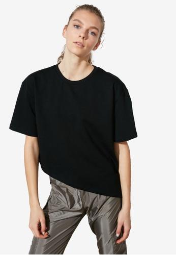 Trendyol black Oversized Sports Tee B215FAA2D99307GS_1