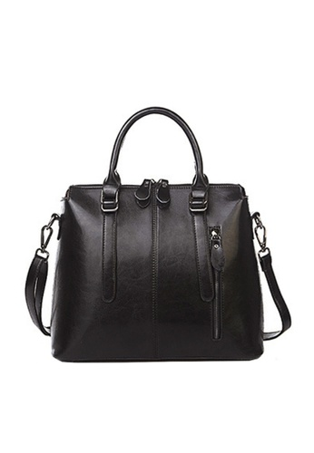 Twenty Eight Shoes black VANSA Vintage Burnished Leather Hand Bag VBW-Hb218 02830ACBAFD41BGS_1