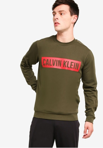 Calvin Klein 黑色 Block Logo Terry Po Sweatshirt - Calvin Klein Performance 8C333AA89EDABEGS_1