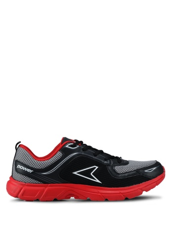 Power black Woven Training Shoes 9D23DSH657D70DGS_1