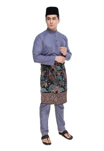 Amar Amran black and grey Baju Melayu Moden 0444AAA01C7F2CGS_1