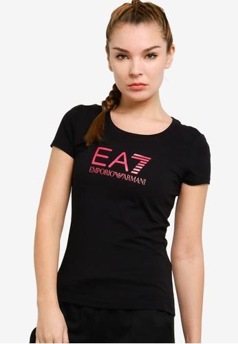 EA7 black Train Shiny Tee 279EBAAF2A7D42GS_1