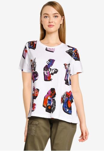 Desigual white Graphic Print T-Shirt A1D8DAA1590038GS_1