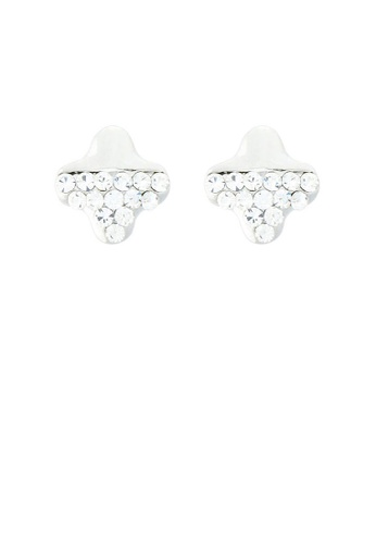 Glamorousky silver Lovely Star Earrings with Silver Austrian Element Crystal CFA41AC5F59A0EGS_1