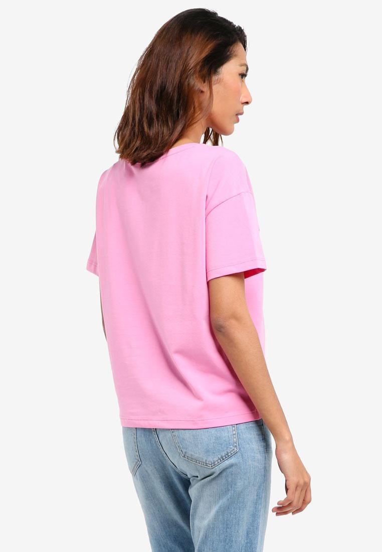Top Wild Calvin Calvin Orchid Sleeve Klein Short Jeans Klein Crew Knit Neck qqHTYwF