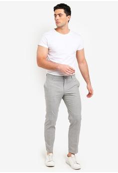 e63cc762539 MANGO Man Slim-Fit Checkered-Print Trousers S  99.90. Sizes 38 40 42 44