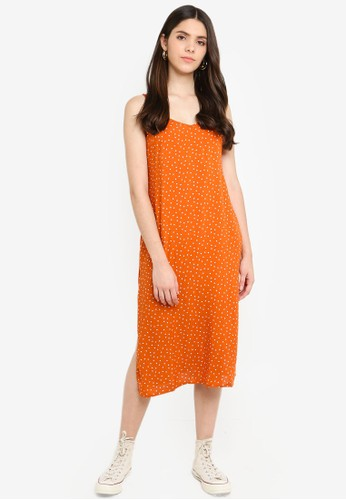 Factorie orange Midi Slip Dress AFD00AA691CFCBGS_1