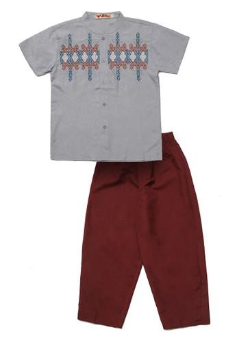 2nd Red Kids blue Baju Koko Anak Bordir Abstrak C7B26AAEED3C41GS_1