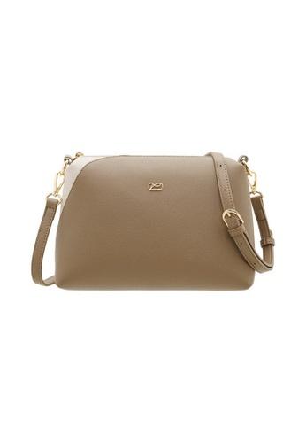 Valentino Creations brown Valentino Creations Marriton Sling Bag AC919AC0C8E800GS_1