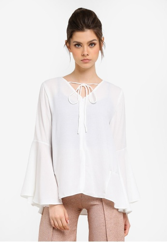 KREE white Molly Front Zip Top KR967AA0RZ5NMY_1