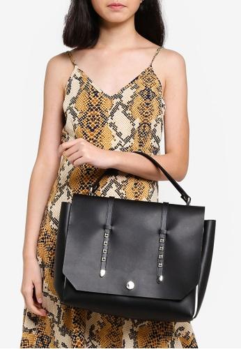 La Fille Des Fleurs black and multi Sapienza Top-Handle Bag A1C55ACE42E725GS_1