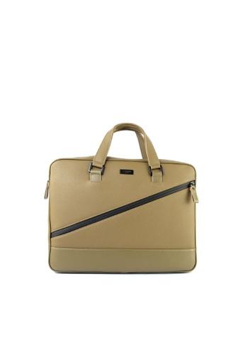 RENOMA Paris green Renoma Men's Sling Briefcase 1960071-02 169ACAC6859053GS_1