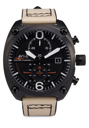 Hawker Harrier IIesprit香港分店 皮革大圓錶, 錶類, 計時型