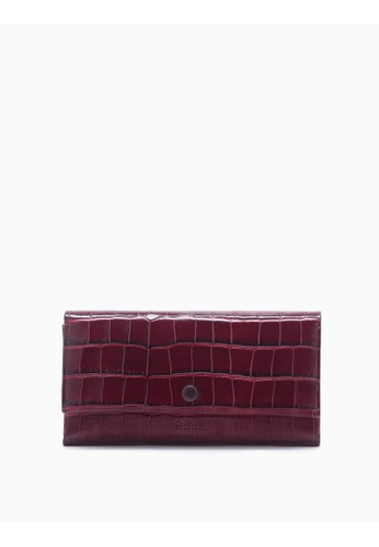Calvin Klein red Long Flap Wallet With Card Case 0A348ACEFC0600GS_1