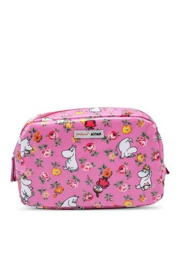 Cath Kidston pink Moomins Linen Sprig Cosmetic Case 9EE55AC5AAA21FGS_1