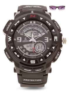 Chronograph Watch With Free Sunglasses JC-H1213-MB-01