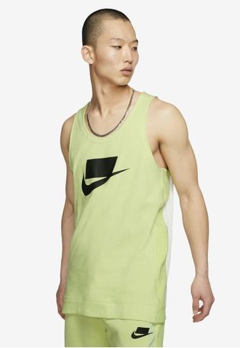 Nike green Sportswear NSW Men's Knit Tank Top 27936AA75FD296GS_1