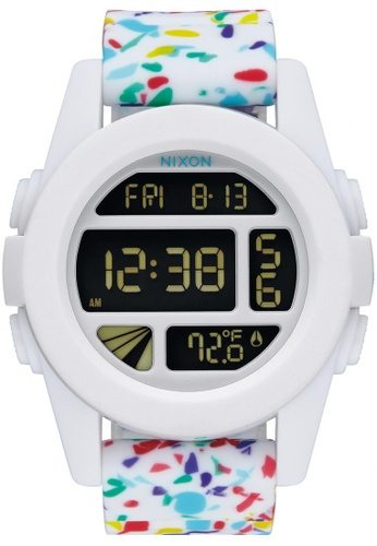 Nixon white and multi Nixon - Unit - White Multi Speckle NI855AC36KGTSG_1