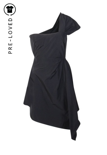 Carven black Pre-Loved carven One Shoulder Strap Dress E540EAA8A37F8FGS_1