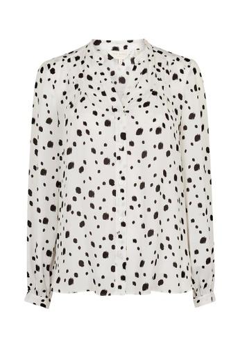 TED BAKER white Ted Baker HEIIKE Polka dot blouse BEEADAA57639FCGS_1