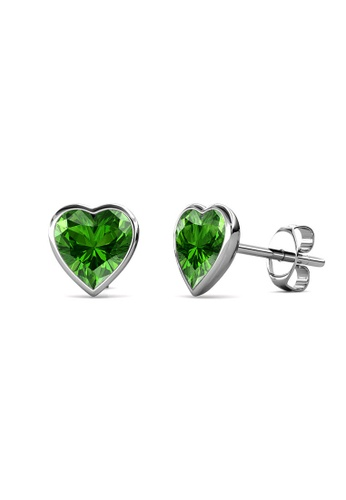 Her Jewellery silver Sweet Stone Earrings (Green) -  Made with premium grade crystals from Austria 32358AC97E34C3GS_1