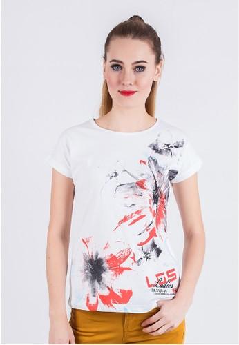 LGS white LGS -  Slim Fit - Ladies T-Shirt - White - Flower. LG695AA78YJHID_1