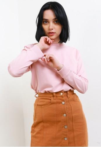 Tolliver pink Basic Sweatshirt 4D385AA22EABB9GS_1