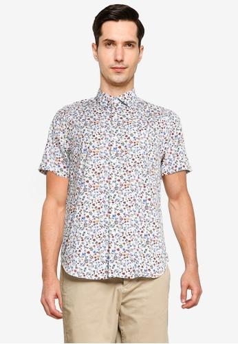 Electro Denim Lab white Printed Shirt CC51AAA6B5D2E9GS_1