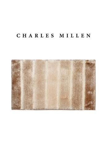 Charles Millen SET OF 2 Charles Millen Cosmos TR1423Y  Microfibre Anti slip  Bath Mat /   45x75cm/ 608g 8BD1BHLE7470D6GS_1