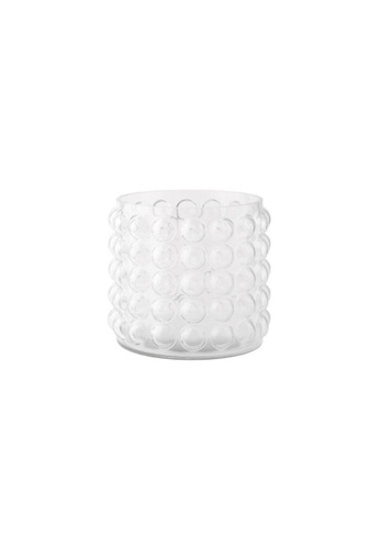 DILAS HOME Short Bubble Glass Vase (Clear) - Short 6AA31HL6972B61GS_1