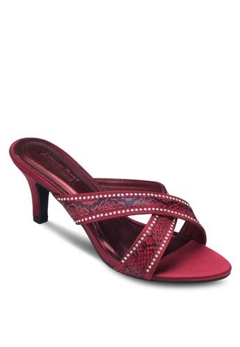 交叉帶細跟涼鞋, 女鞋,esprit 台北 中跟