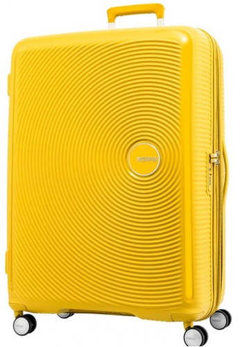 American Tourister yellow American Tourister Curio Spinner 80 30 Exp TSA  D77FFAC52D2273GS 1 b018efafb1