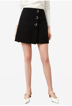 ccf820cc61a9 Hopeshow navy High Waist Skirt With O-Ring 16FCDAAD4E1042GS 1