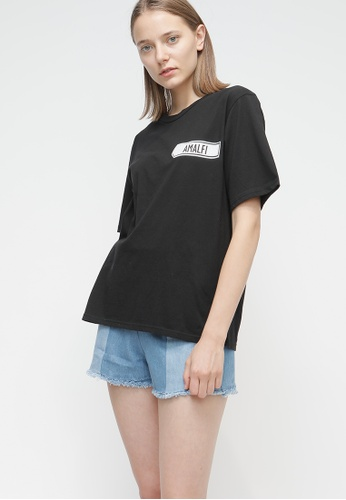 OUTSTANDING ORDINARY black Sign Tee OU203AA53DCCSG_1