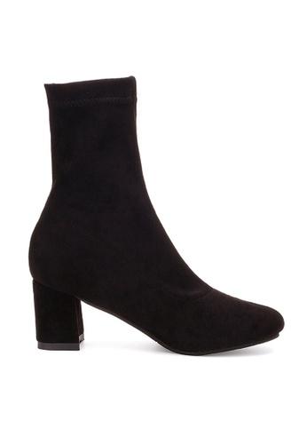 Twenty Eight Shoes 黑色 VANSA 方頭高跟靴 VSW-B028 973D3SH356DD54GS_1