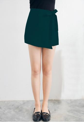 Shopsfashion green Wrapped Shorts in Navy Green A5F01AA21CBF49GS_1